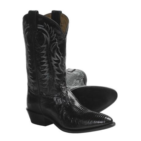 Tony Lama Lizard Cowboy Boots - Leather, R-Toe (For Men)