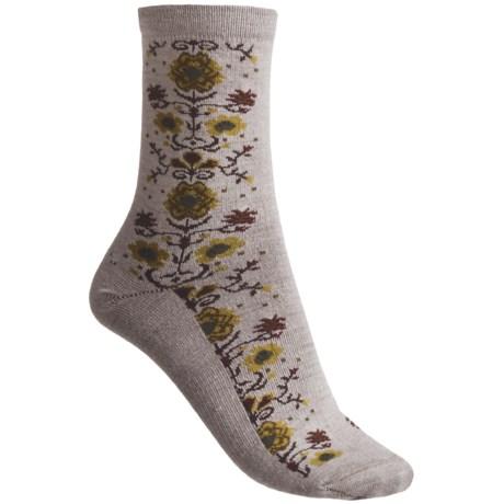 Goodhew Needlepoint Socks - Merino Wool, 3/4 Crew (For Women)