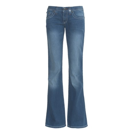 Cruel Girl Marla Jeans - Flare Leg, Heavy Stitching (For Women)