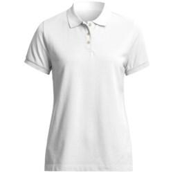 Pique Cotton Polo Shirt - Short Sleeve (For Women)