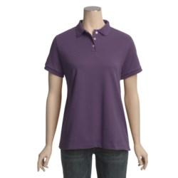 Pima Cotton Polo Shirt - Short Sleeve (For Women)