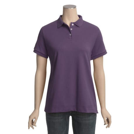Pima Cotton Polo Shirt - Short Sleeve (For Women)