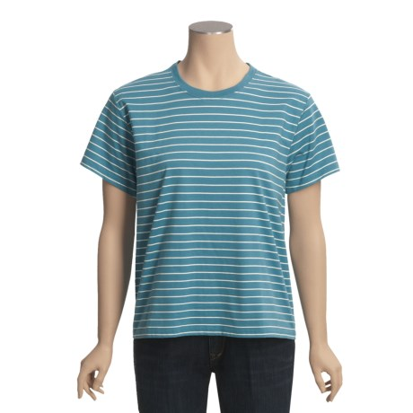 Specially made Striped Jersey Cotton T-Shirt - Short Sleeve (For Women)