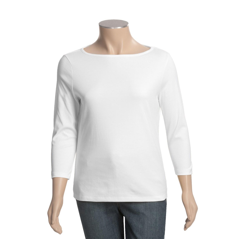 Boat neck supima cotton t shirt for plus size women for Boat neck t shirt women s