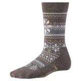 SmartWool Snowflake Fair Isle Socks - Merino Wool (For Women)