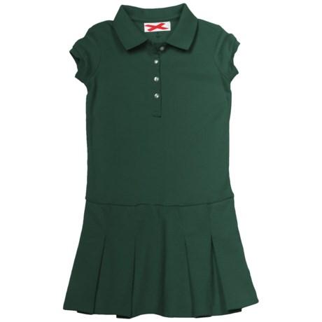 Pique Cotton Dress - Short Sleeve (For Girls)