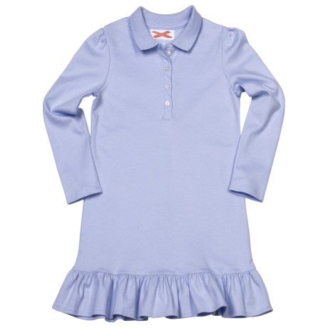 Interlock Cotton Dress - Button Placket (For Girls)