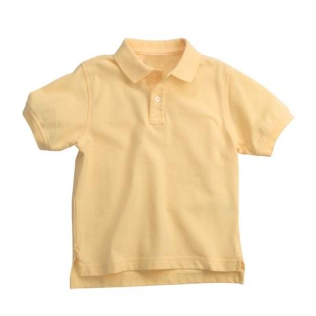 Pique Cotton Polo Shirt - Short Sleeve (For Little Boys)