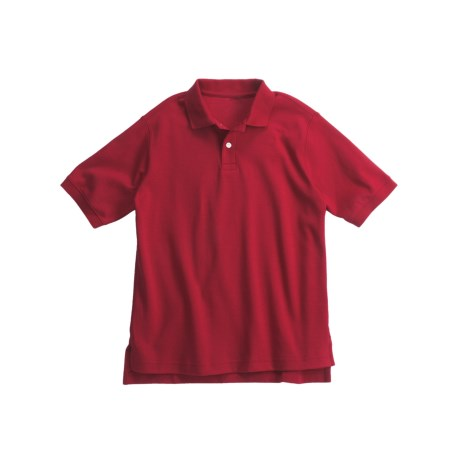 Interlock Cotton Polo Shirt - Short Sleeve (For Boys)