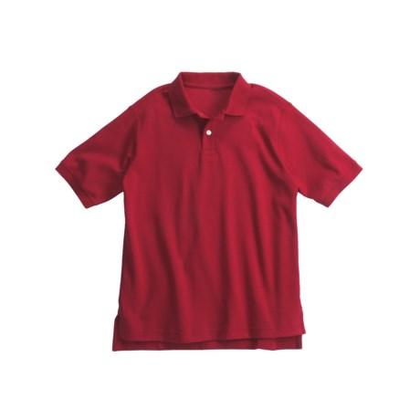 Interlock Cotton Polo Shirt - Short Sleeve (For Little Boys)