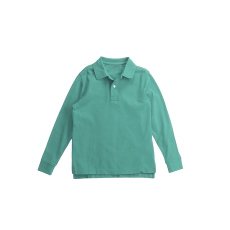 Pique Cotton Polo Shirt - Long Sleeve (For Boys)