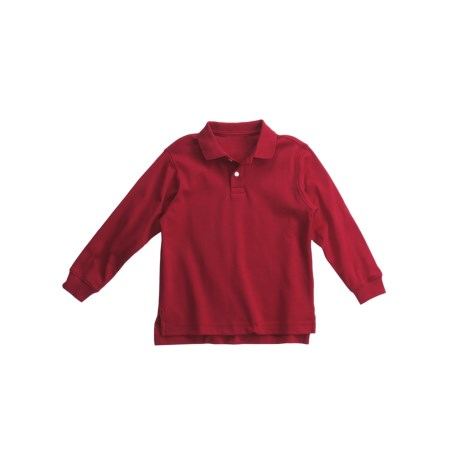Interlock Cotton Polo Shirt - Long Sleeve (For Little Boys)