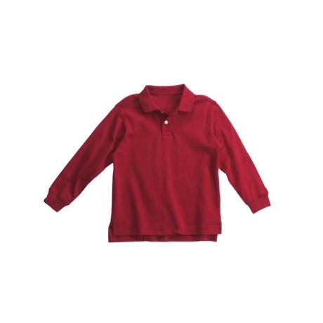 Interlock Cotton Polo Shirt - Long Sleeve (For Little Boys)