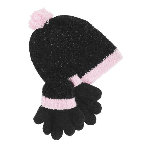 Grand Sierra Sparkle Chenille Hat and Gloves Set (For Little Girls)
