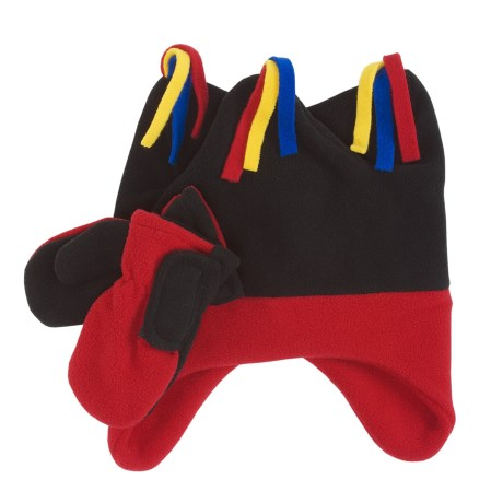 Grand Sierra Super Soft Fleece Jester Hat and Mitten Set (For Toddlers)