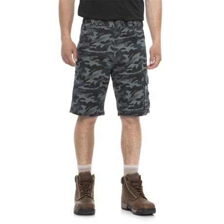 Work King Twill Camo Cargo Shorts (For Men)