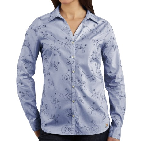 Carhartt Embroidered Woven Shirt - Long Sleeve (For Women)