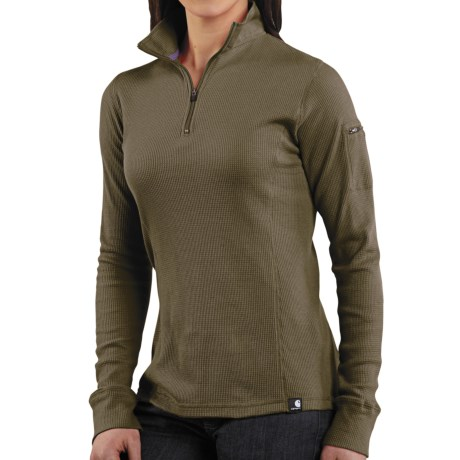 Carhartt Thermal Knit Shirt - Zip Neck (For Women)