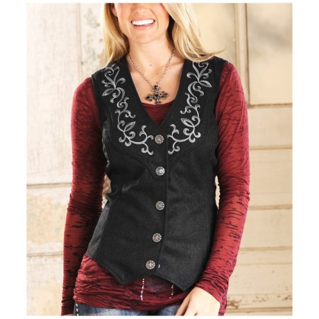 Powder River Outfitters Libby Wool Vest (For Women)