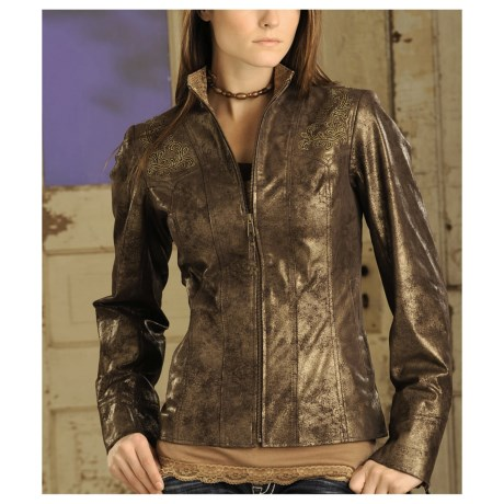 Powder River Outfitters Cross Jacket - Metallic Leather (For Women)