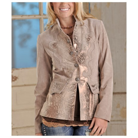 Powder River Outfitters Florianna Jacket - Metallic Printed Leather (For Women)
