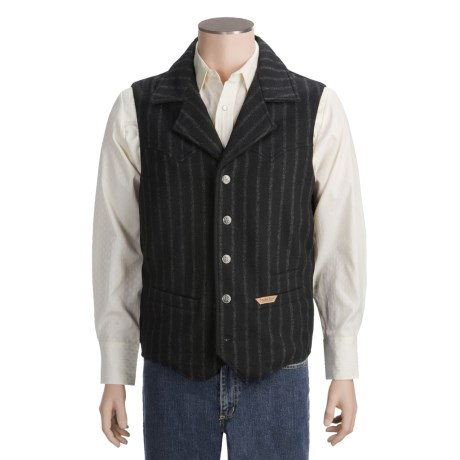 Powder River Outfitters Montana Stripe Vest - Wool Blend (For Men)