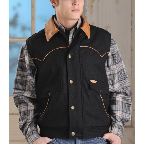 Powder River Outfitters Holbrook Vest - Wool Blend (For Tall Men)