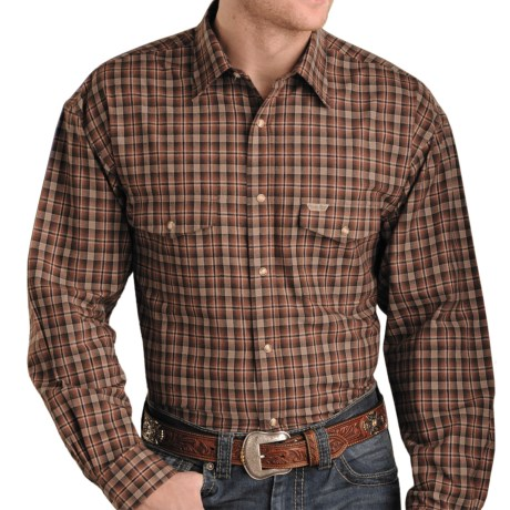 Powder River Outfitters Brushed Bandera Plaid Shirt - Long Sleeve (For Men)
