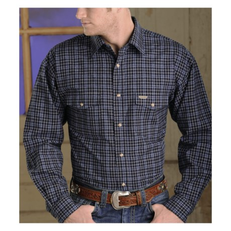 Powder River Outfitters Bandera Plaid Shirt - Long Sleeve (For Big and Tall Men)