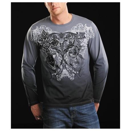 Rock & Roll Cowboy Scrolling Art T-Shirt - Long Sleeve (For Men)