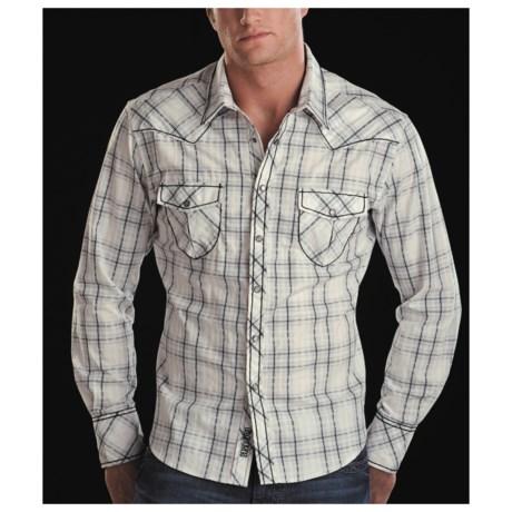 Rock & Roll Cowboy Satin Plaid Shirt - Long Sleeve (For Men)