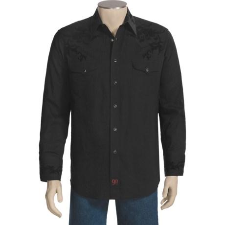 Panhandle Slim 90 Proof Shirt - Satin Tonal Stripe, Long Sleeve (For Men)