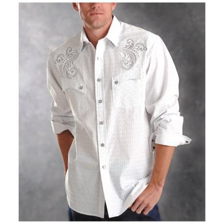 Rough Stock Lurex Dobby Shirt - Long Sleeve (For Men)