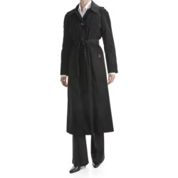London Fog Hooded Trench Coat - Zip-Out Liner (For Plus Size Women)