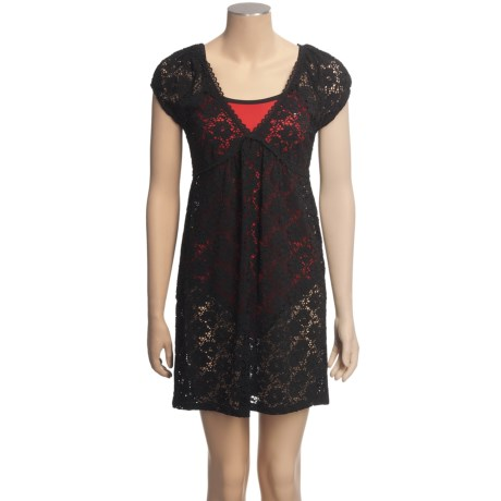 Laundry by Design Passion Flower Lace Cover-Up - Short Sleeve (For Women)
