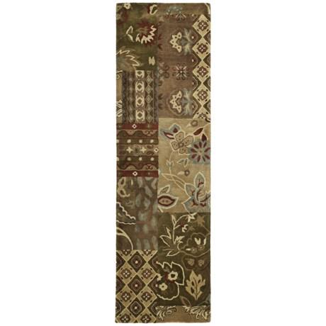 """Kaleen Mystical Garden Floor Runner - 2'3""""x8', Wool"""