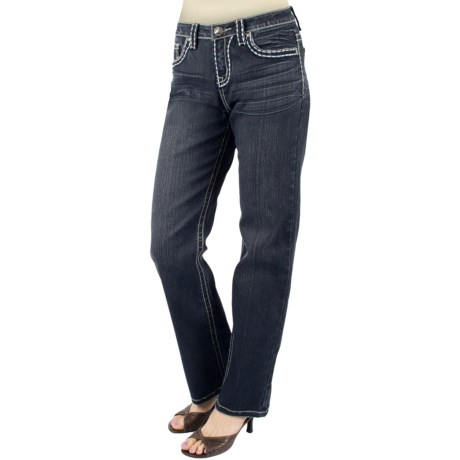 Ethyl Straight-Leg Jeans - Stretch Denim (For Women)