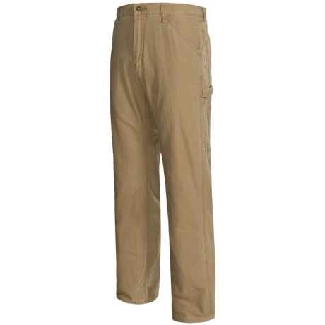 Flannel-Lined Carpenter Twill Pants (For Men)