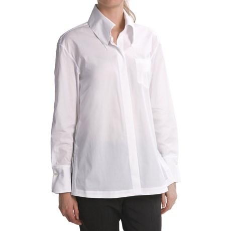 Paperwhite Stretch Cotton Drop-Shoulder Shirt - Long Sleeve (For Women)