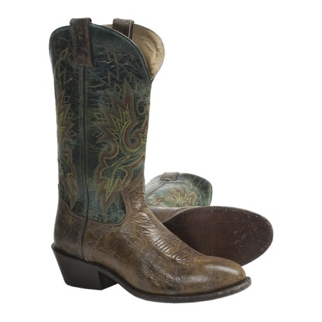 "Double H Sonora Western Cowboy Boots - 12"", Round Toe (For Men)"