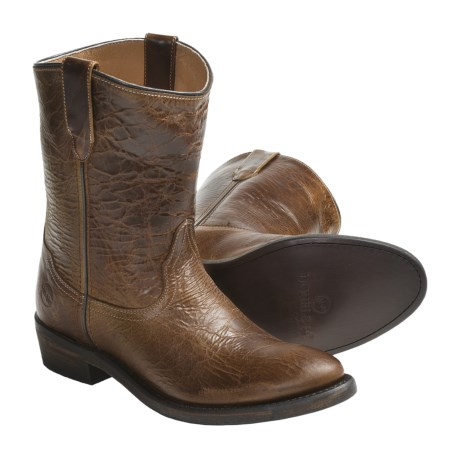 Double H Casual Western Cowboy Boots - Leather, Round Toe (For Women)