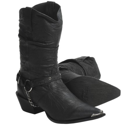 Durango Harness Slouch Western Boots - Leather (For Women)