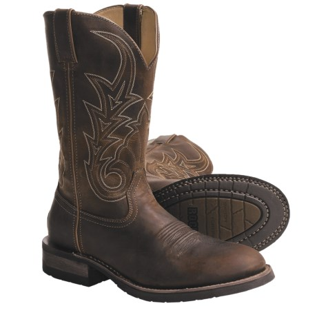 "Rocky Handhewn Cowboy Boots - Steel Toe, 12"" (For Men)"