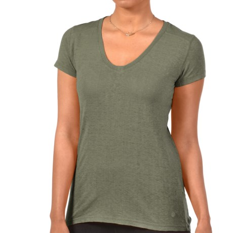 Gramicci Tara V-Neck T-Shirt - UPF 20, Hemp-Organic Cotton, Short Sleeve (For Women)