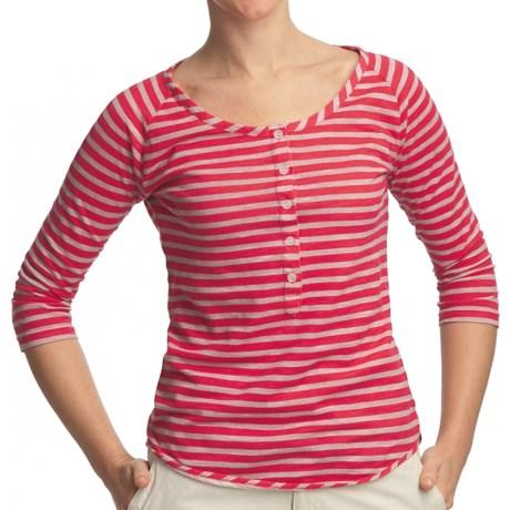 Gramicci Asteria Dafina Stripe Henley Shirt - 3/4 Sleeve (For Women)
