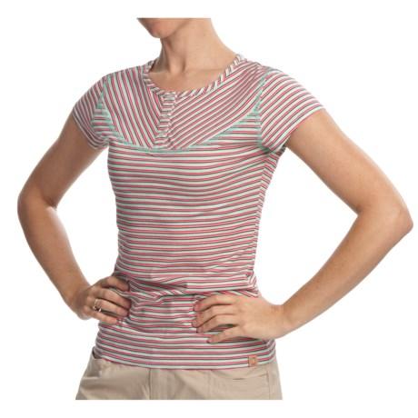 Gramicci Nikko Naira Jersey Easy Fit Henley Shirt - Short Sleeve (For Women)