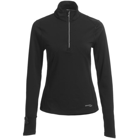 Saucony DryLete® Sportop Shirt - UPF 50+, Zip Neck, Long Sleeve (For Women)