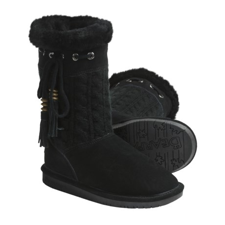 Bearpaw Constantine Winter Boots - Suede, Cable Knit, Sheepskin/Wool Lined (For Women)