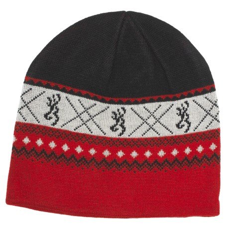 Browning Nordic Knit Beanie Hat (For Men)
