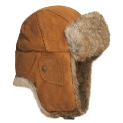 Mad Bomber® Suede Aviator Hat - Euro Fit, Rabbit Fur, Insulated (For Men and Women)
